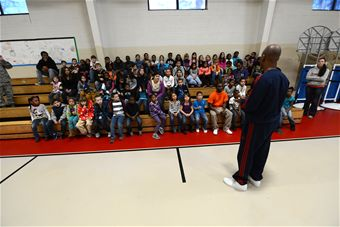 NBA Referee Speaking to Youth