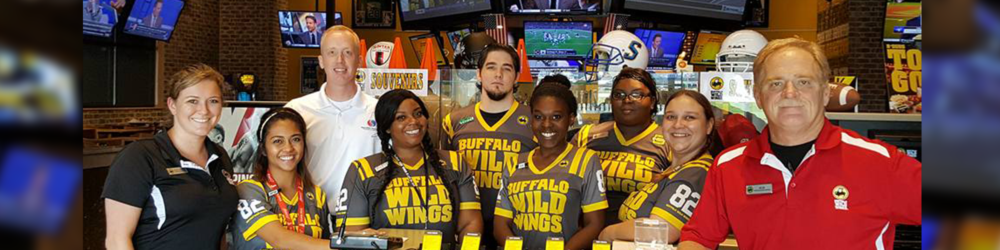 Timothy Montjoy with Buffalo Wild Wings