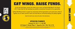 Buffalo Wild Wings Ticket